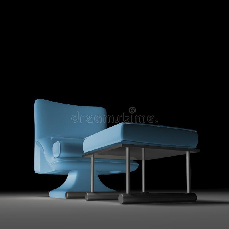 Solo asiento - sofá stock de ilustración