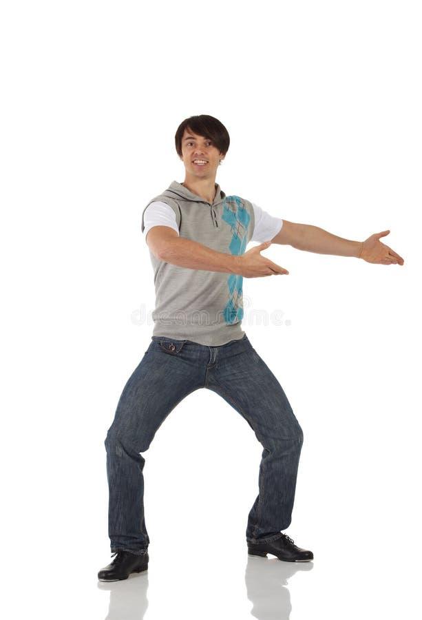 Solo bailarín de golpecito de sexo masculino imagen de archivo