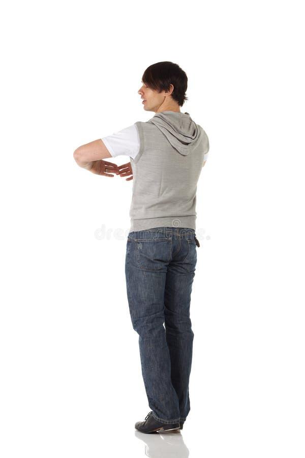 Solo bailarín de golpecito de sexo masculino fotos de archivo