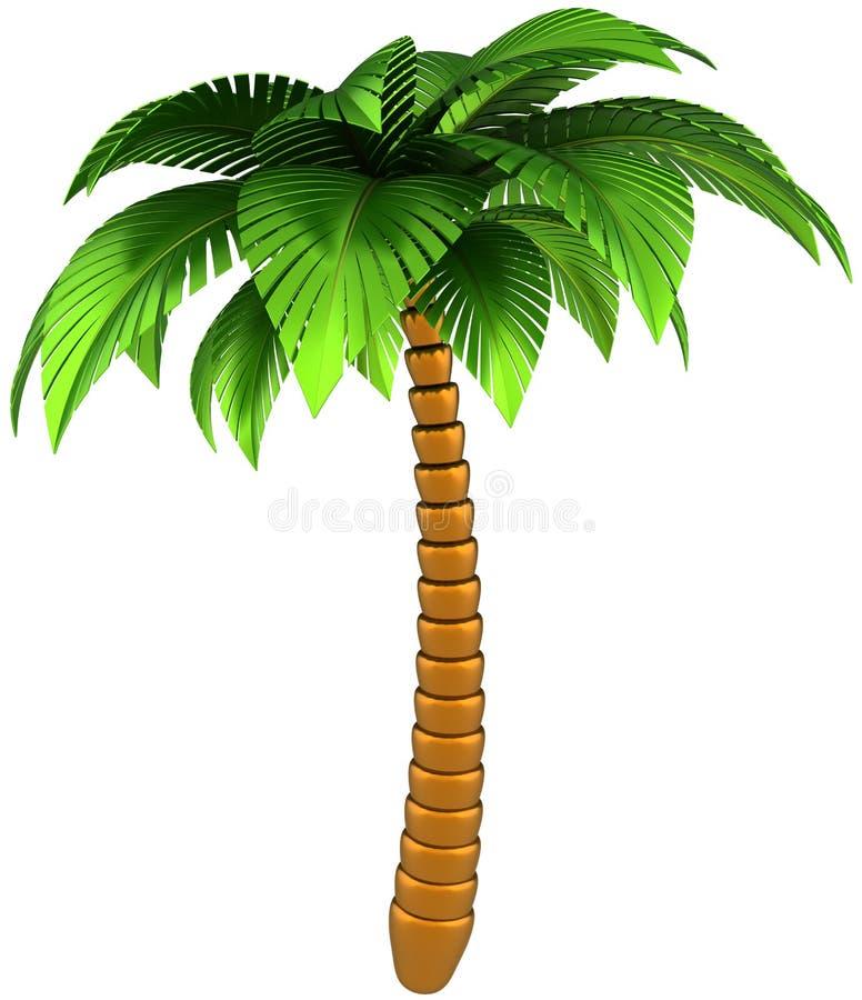 Solo estilizado de la palmera aislado ilustración del vector