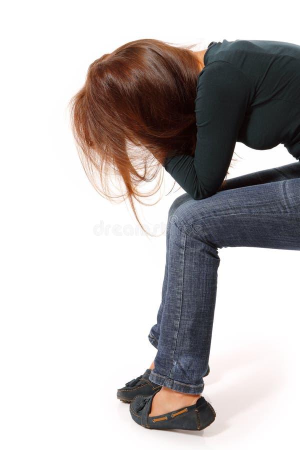 Solo gridato ragazza teenager di depressione immagini stock