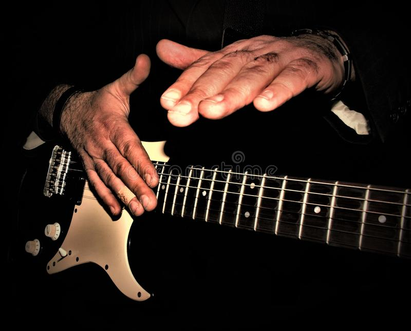 Solo guitar close-up royalty free stock images