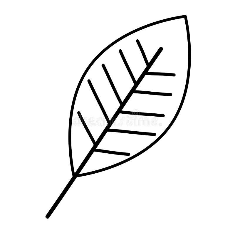 Solo icono decorativo de la hoja stock de ilustración