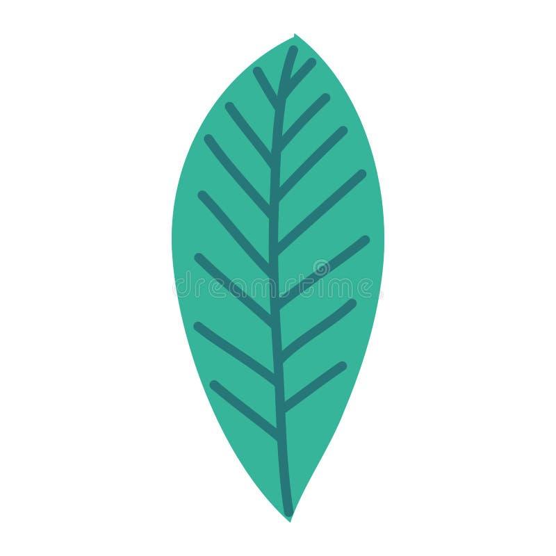 Solo icono decorativo de la hoja libre illustration