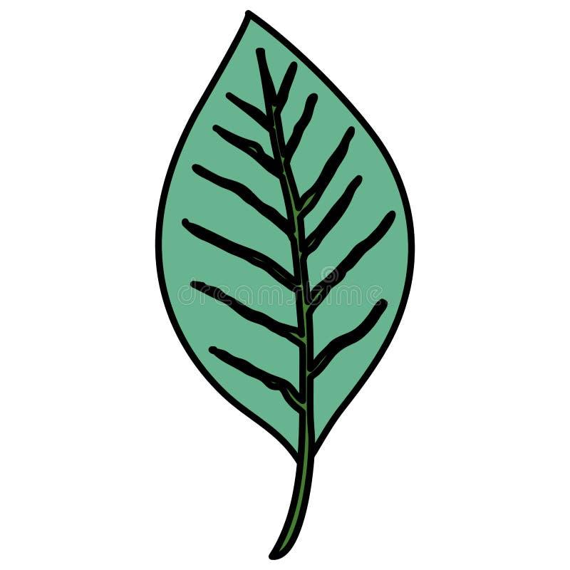 Solo icono decorativo de la hoja ilustración del vector