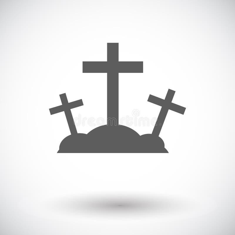 Solo icono del Calvary ilustración del vector