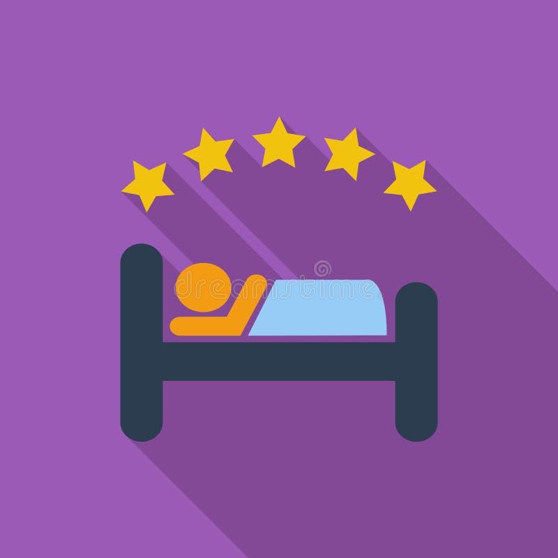 Solo icono plano del hotel libre illustration