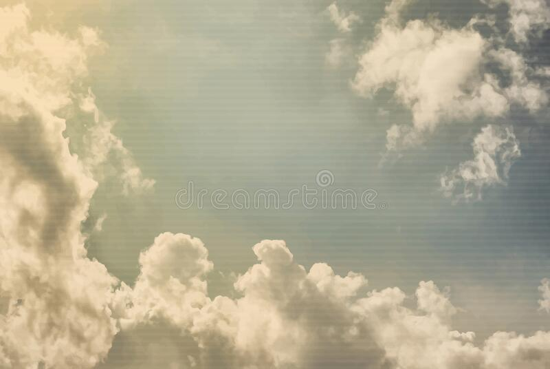 Solo il cielo di vintage, è tritato in strisce Vettore fotografia stock libera da diritti