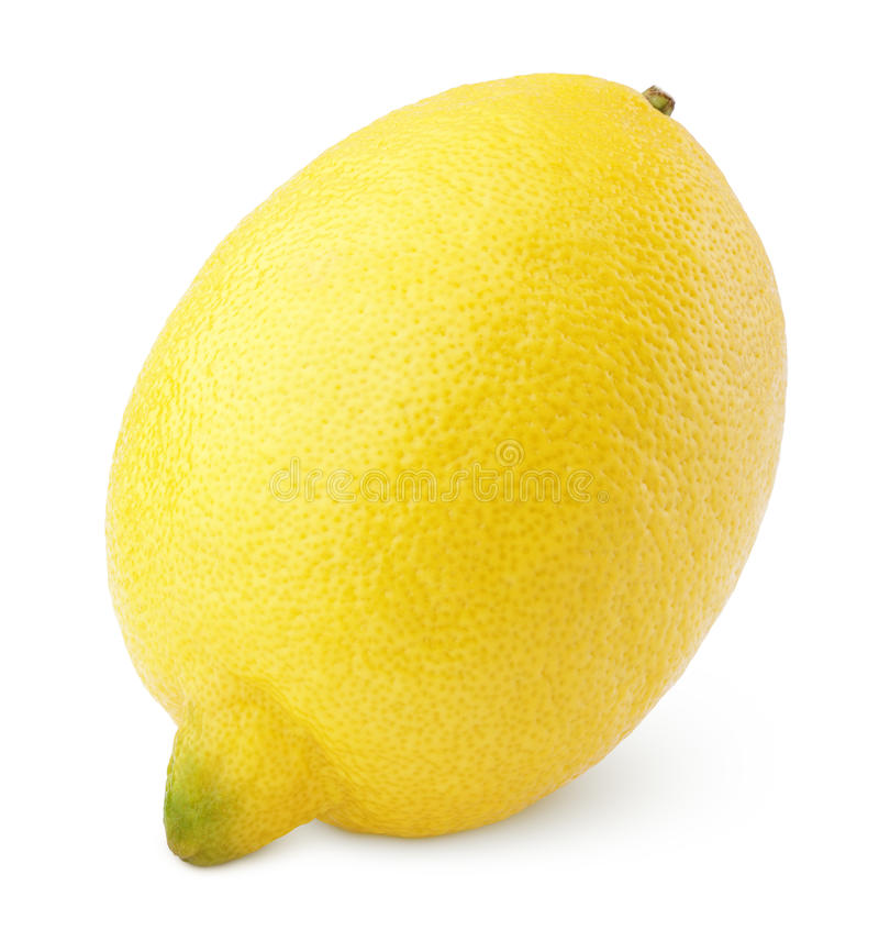 Solo limón en blanco fotografía de archivo