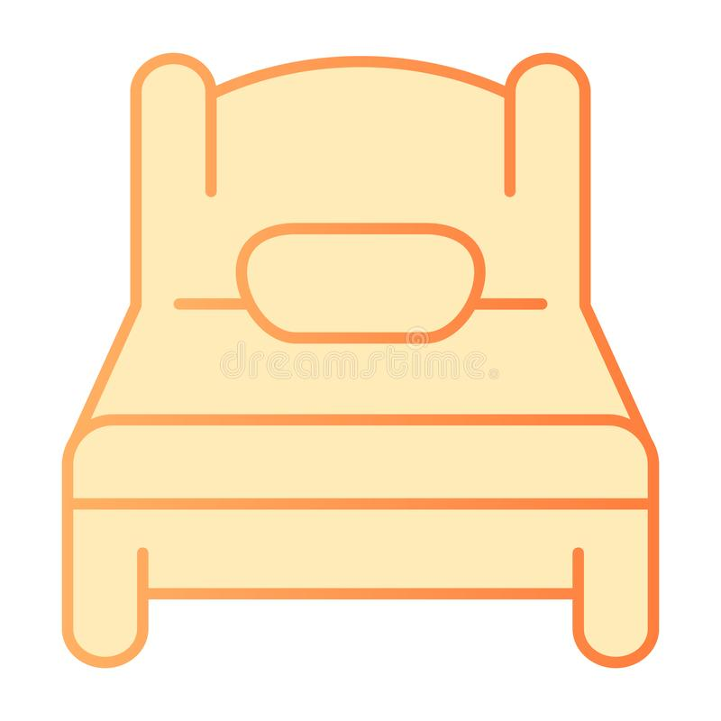 Solo mún icono plano Iconos anaranjados del sueño en estilo plano de moda Diseño del estilo de la pendiente del solo sitio, diseñ ilustración del vector