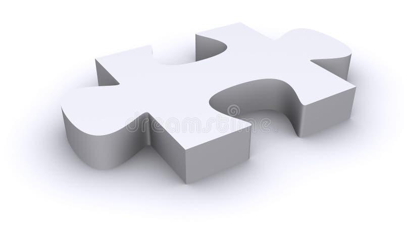 Solo pedazo del rompecabezas 3d libre illustration
