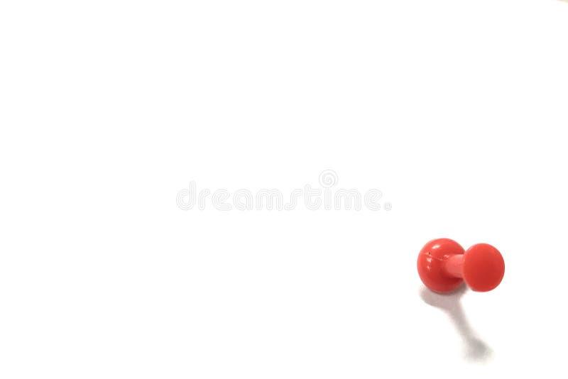 Solo perno rojo del empuje fotografía de archivo