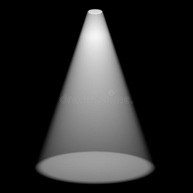 Solo proyector que brilla en etapa ilustración del vector