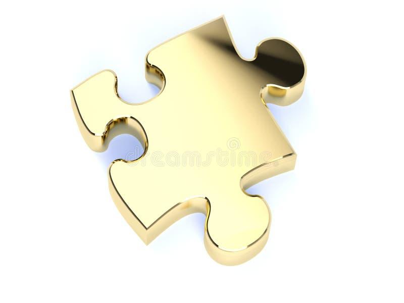Solo rompecabezas del oro ilustración del vector