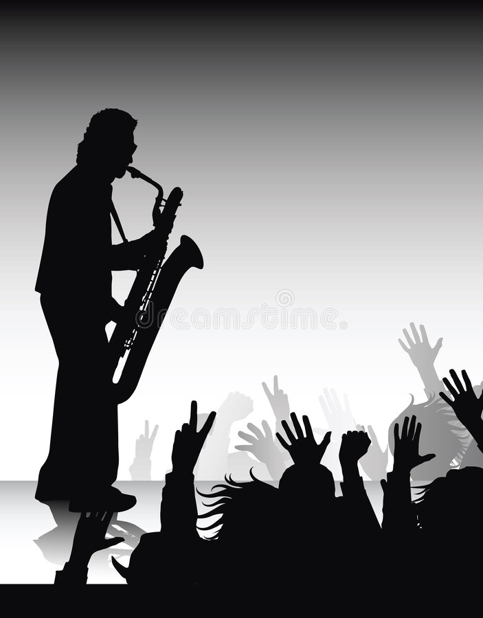 solo saksofonu ilustracja wektor