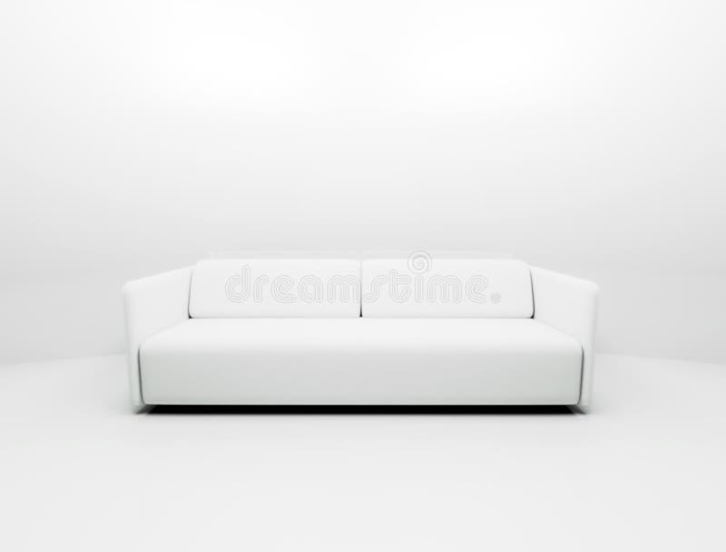 Solo sofá blanco stock de ilustración