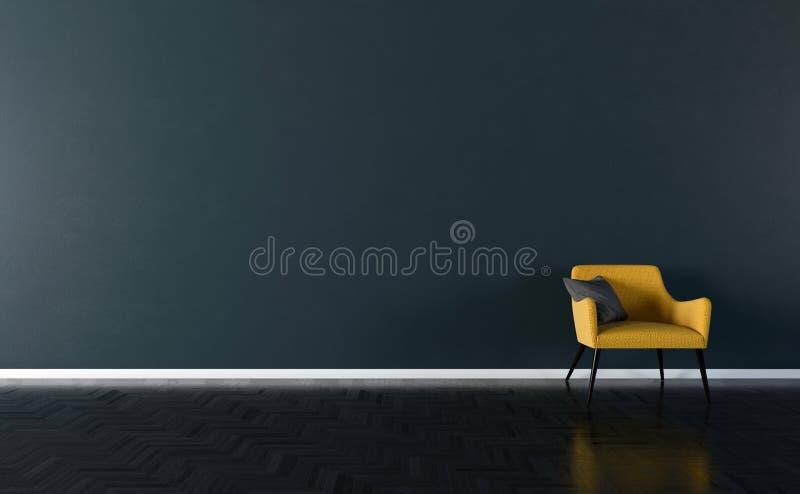 Solo stoel binnenlandse 3d illustratie vector illustratie