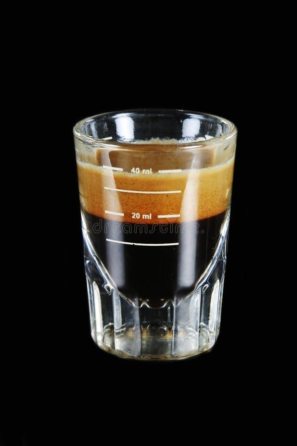 Solo tiro del café express imagen de archivo