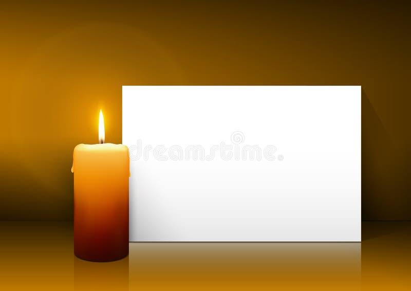Solo vector de la vela con el panel del Libro Blanco en fondo marrón claro libre illustration