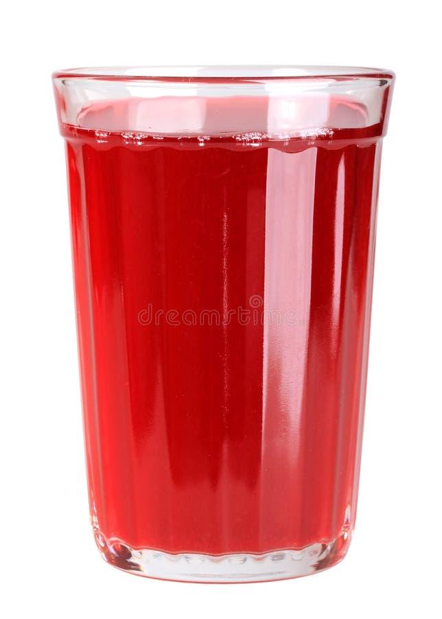 Solo vidrio con la bebida roja foto de archivo libre de regalías