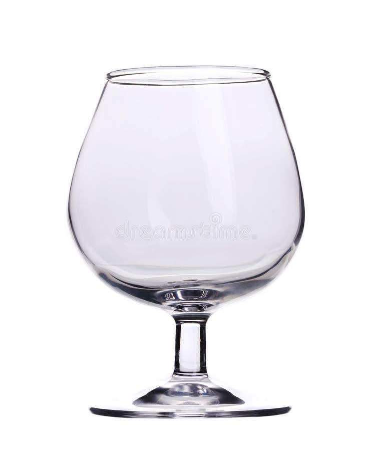 Solo vidrio de brandy vacío fotos de archivo