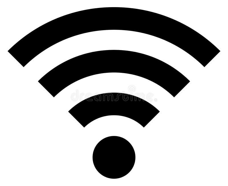 Solo Wi-Fi negro aislado del icono ilustración del vector
