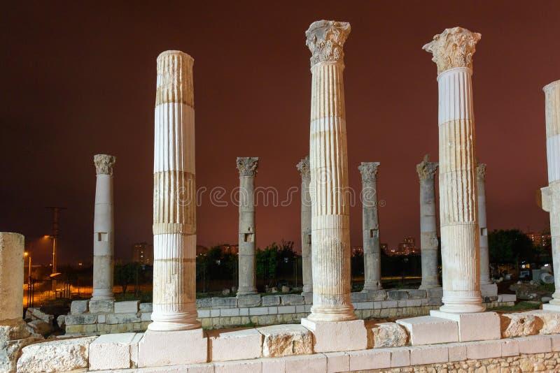 Soloi-pompeipolis ist alte Hafenstadt Mersin Die Türkei lizenzfreie stockfotografie