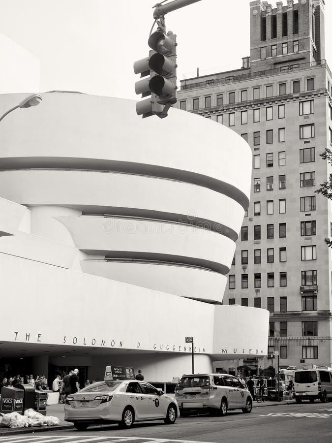 Solomom R Guggenheim muzeum w Miasto Nowy Jork zdjęcie royalty free