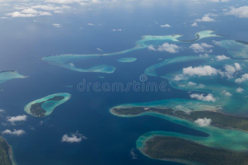 Solomon Islands Aerial View arkivbilder