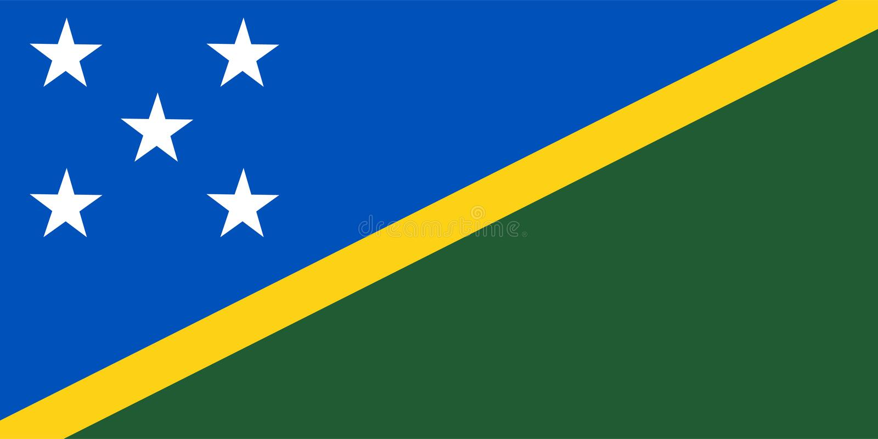 Solomon Islands flag vector. Illustration of Solomon Islands royalty free illustration