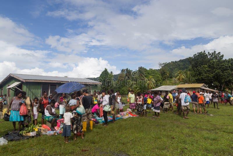 Solomon Islands Local Market imagens de stock