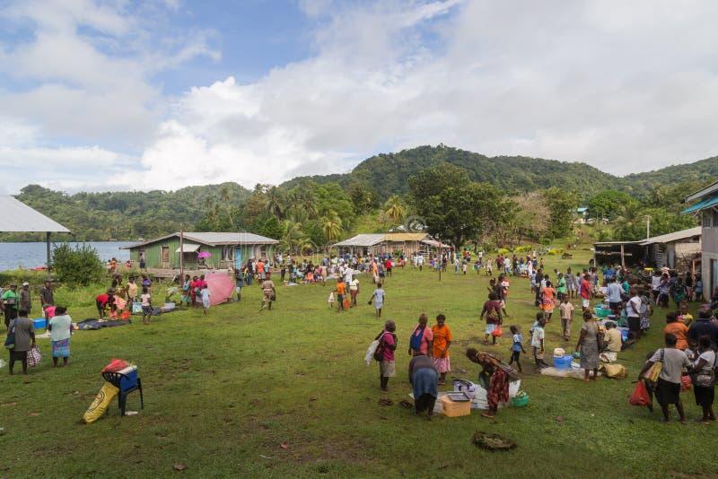 Solomon Islands Local Market foto de stock royalty free
