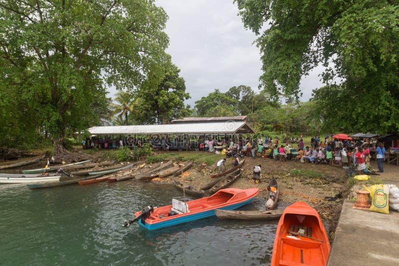 Solomon Islands Local Market imagenes de archivo