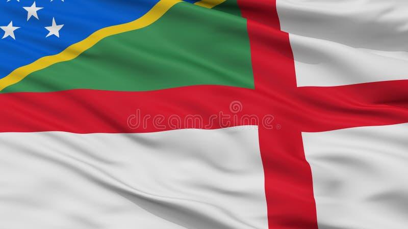 Solomon Islands Naval Ensign Flag-Close-upmening vector illustratie