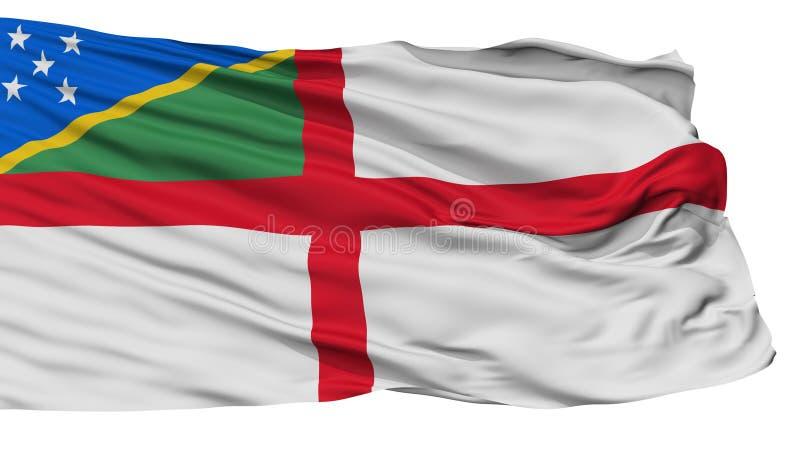 Solomon Islands Naval Ensign Flag, op Wit wordt geïsoleerd dat vector illustratie