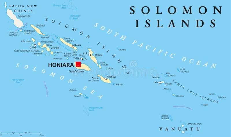 Solomon Islands Political Map Stock Vector Illustration of honiara