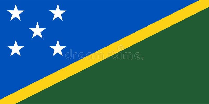Solomon Islands-vlagvector Illustratie van Solomon Islands royalty-vrije illustratie