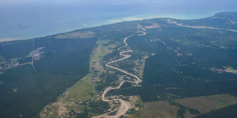 Solomon Islands-Wirbelsturm und -überschwemmung stockfotos