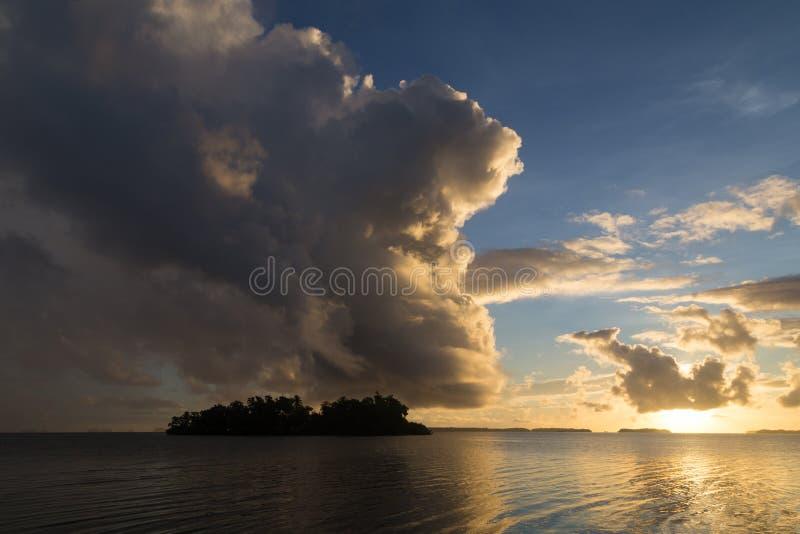 Solomon Islands-zonsopgang royalty-vrije stock foto's