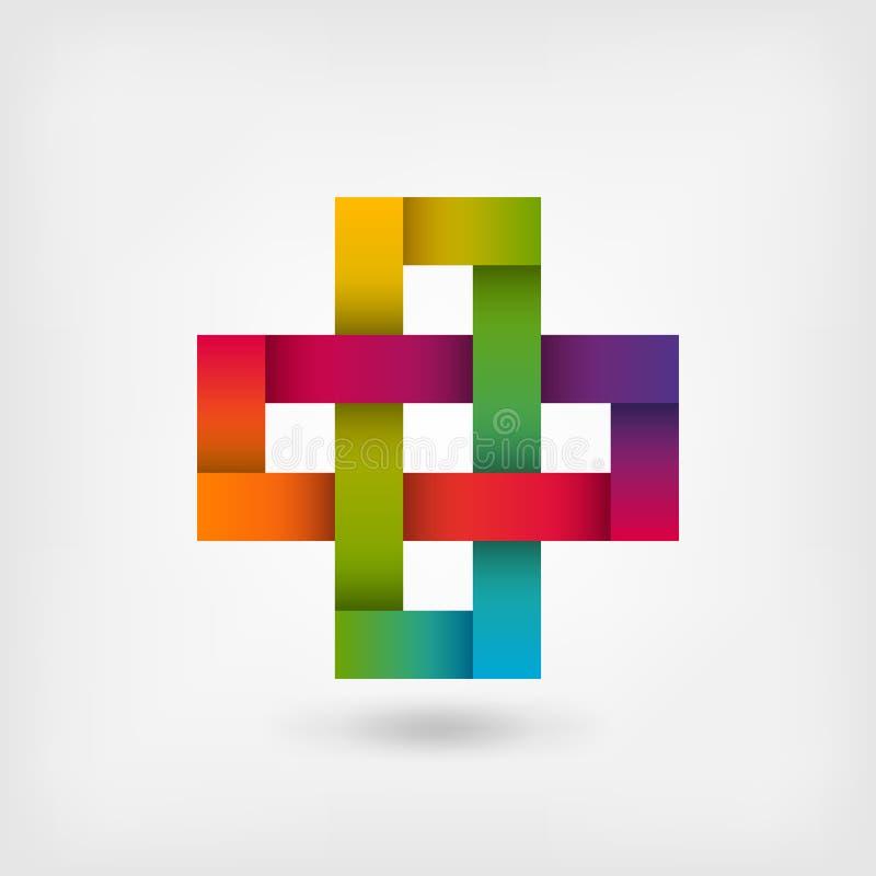 Solomon knot in rainbow colors. Vector illustration - eps 10 royalty free illustration