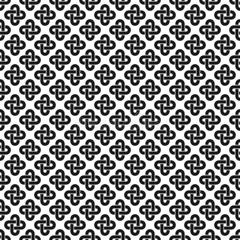 Solomon knot seamless pattern royalty free illustration