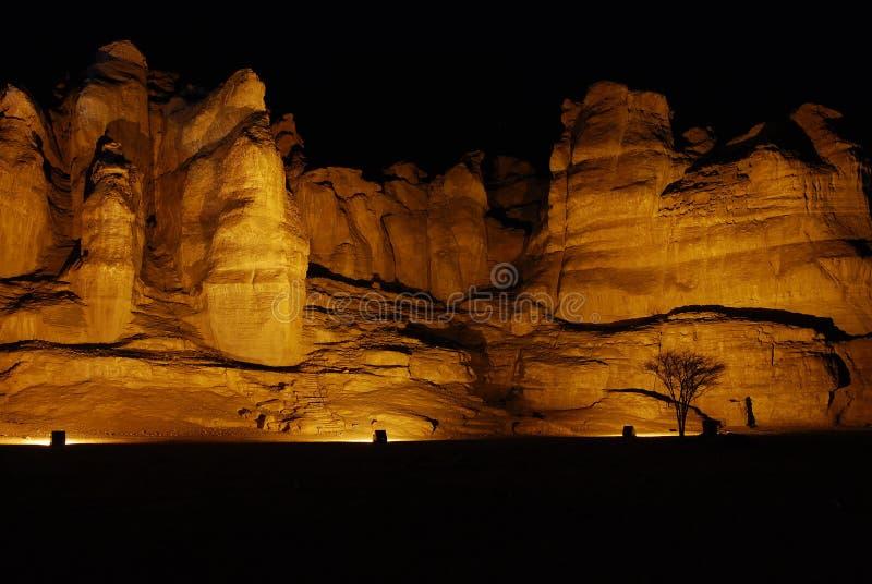 Solomon pillars in Timna park stock photos