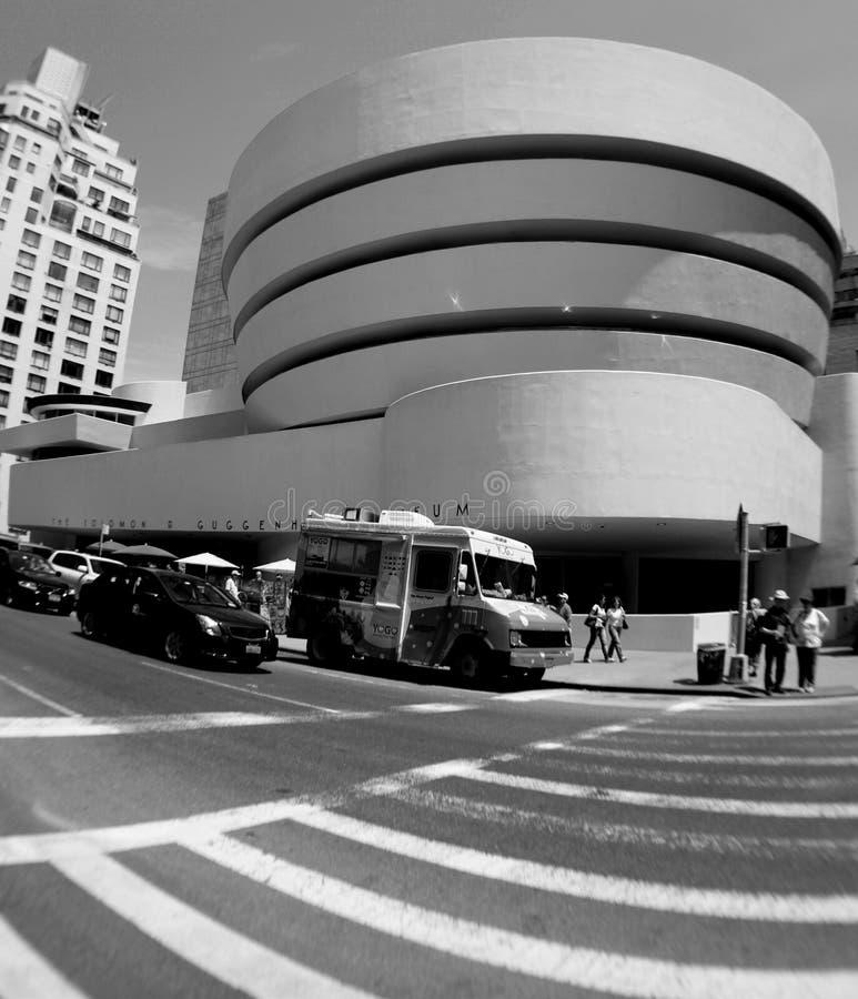 The Solomon R. Guggenheim Museum in New York City stock image