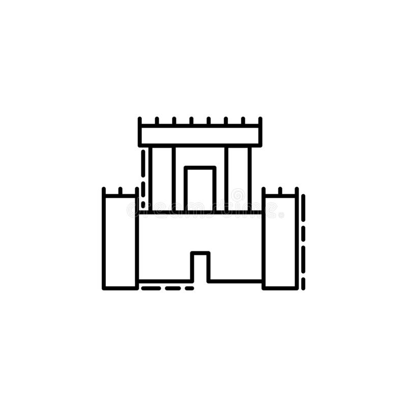 Solomon Temple icon. Element of Jewish icon for mobile concept and web apps. Thin line Solomon Temple icon can be used for web and stock illustration