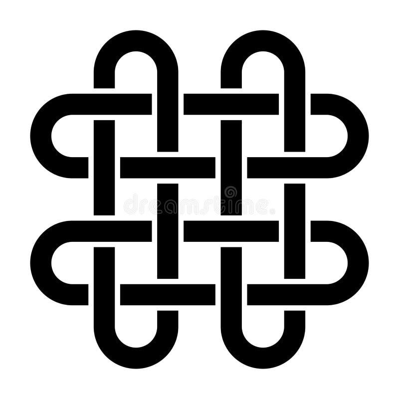 Solomons fnurensymbol royaltyfri illustrationer
