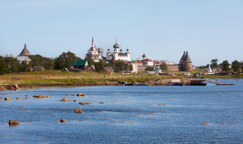 solovetsky亲切的修道院 免版税库存照片