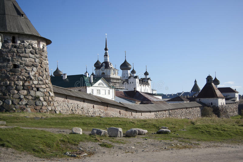 Solovetsky Islands. Man's monastery of Russian Orthodox Church on the Solovetsky Islands in the white sea royalty free stock photo
