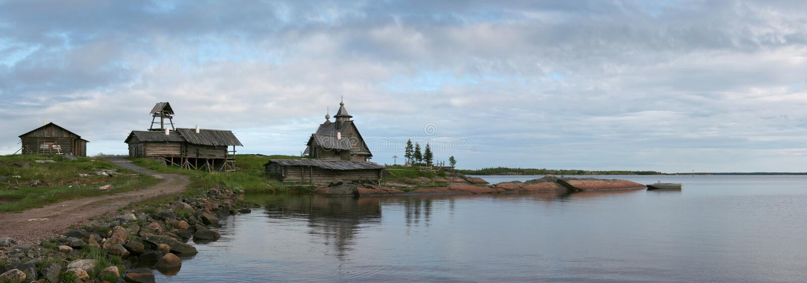 Solovetsky islands. Old church. Solovetsky islands (Russia stock image