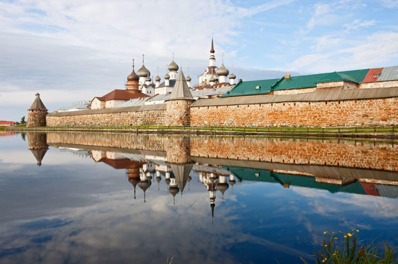 solovetsky kloster fotografering för bildbyråer