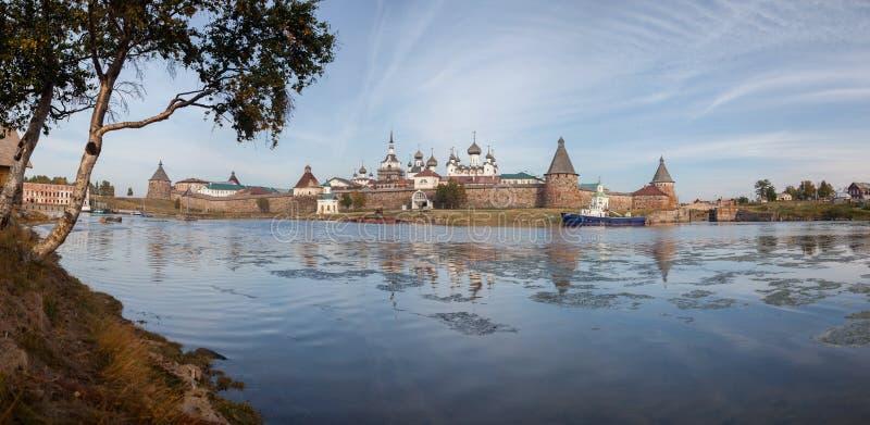 solovetsky kloster royaltyfri bild